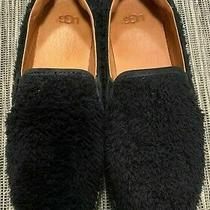 Uggs Uggs W Ricci Black Fuzzy Women Sneaker Slip-on Size 9.5 Photo