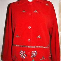Ugly Christmas Sweater Party Fleece Classic Elements Size Petite Xs Euc Holiday Photo