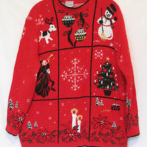 Ugly Tacky Christmas Sweater Large Winner 100% Acrylic Classic Elements Photo