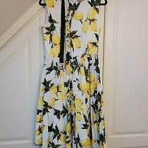 Uk 12 Lindy Bop Lemon Audrey Dress Excellent Condition Retro Vintage Circle Photo