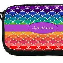 Ukbk Addison Name on Rainbow Scallop Wristlet With Safety Closure Photo