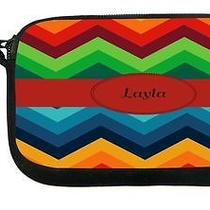 Ukbk Layla Name on Fall Colors Chunky Chevron Wristlet With Safety Closure Photo