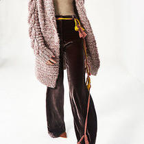 Ulla Johnson..aiko..handknit Cable..cardigan/coat Sweater.. Photo