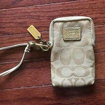Ultra Rare Coach Poppy Gold Authentic Wristlet Matches Purse Wallet Photo