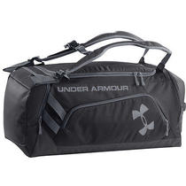Under Armour 2015 Ua Contain Storm Duffel Holdall Backpack - Black/steel Photo