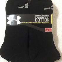 Under Armour  6-Pair Men's Charged Cotton Low Cut Socks.  Large  Black Photo