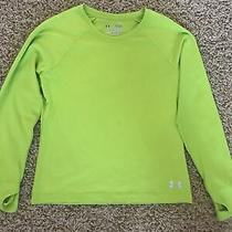 Under Armour All Season Gear Youth Size L Green Long Sleeved Shirt Photo