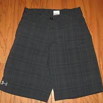 Under Armour Black Gray Plaid Golf Shorts Ylg Youth L 14 Yrs Boys 26