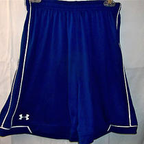 Under Armour Blue Heat Gear Shorts Small - Check Store Photo