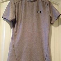 Under Armour Boy's Gray Fitted Heat Gear Shirt Ylg Photo