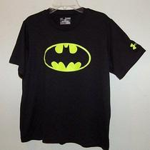 Under Armour Boys Batman Alter Ego Shirt Size Yxl Xl  Heatgear Loose Fit Photo