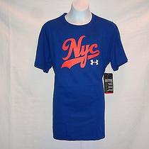 Under Armour Boys Blue Charged Cotton Nyc Graphic Shirt Size Extra Large   Nwt Photo