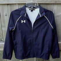 Under Armour Boys Ymd Navy Zip Front Jacket Photo