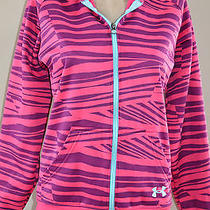 Under Armour Bright Colorful Print Zip Front Hoodie Jacket Sz Small Photo