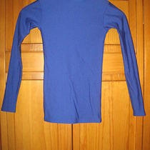 Under Armour Cold Gear Shirt Ysm S Blue Running Hockey Soccer Gym Photo