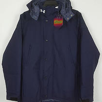 Under Armour Coldgear Infrared Element Hooded Jacket Navy Blue 200 (Size 3xl) Photo