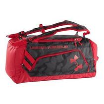 Under Armour Contain Storm Duffel Backpack Black/red Gym Bag Carry-on Luggage Photo