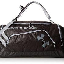 Under Armour Contain Storm Duffel Backpack Black/steel Gym Bag Carry-on Luggage Photo