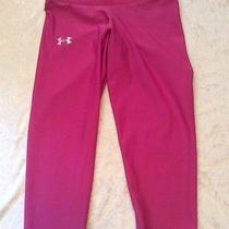 Under Armour Crops Xs Pink Heat Gear Running Pants Leggings Photo