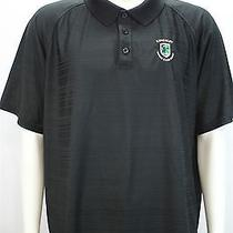 Under Armour Green Heat Gear Loose Large Kingsley Golf Club Black Polo Shirt Photo