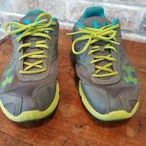 Under Armour Grey Blue Athletic Sneakers Style 1226580-047  Sz 7y Eur 40 W 8.5 Photo
