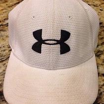 Under Armour Hat Fitted Cap. Youth Boys Kids Elastic White/black Size Youth -K3b Photo