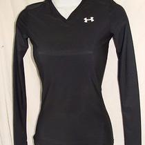 Under Armour Heat Gear  Black  Knit Top Base Layer S Photo