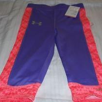 Under Armour Heat Gear Girls/capri/compression/leggings  Size 4 Photo