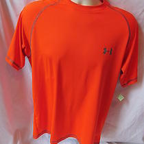 Under Armour Heat Gear Green Medium Loose Orange T Shirt Item 14 Photo