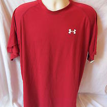 Under Armour Heat Gear Large Red T Shirt Item 7 Photo