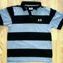 Under Armour Heat Gear Men's Black/gray Polo Shirt - Medium Free Shipping Photo