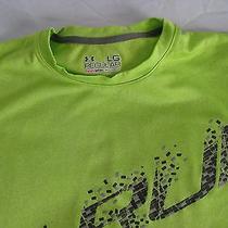 Under Armour Heat Gear  Performance Shirt Green Men's Large Mint Photo