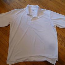 Under Armour Heat Gear Polo Shirt / Men's Xl / White / Mint Photo