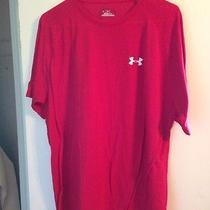 Under Armour Heat Gear Shirt Mens L Red Photo