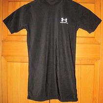 Under Armour Heat Gear Shirt Ymd Black Soccer Football Hockey Running Hockey Gym Photo