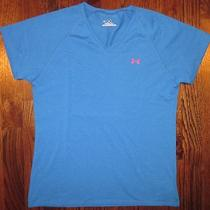 Under Armour Heat Gear Short Sleeve Shirt Woman's Small Mint Photo