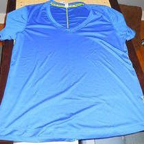Under Armour Heat Gear v-Neck Tee Blue Xl Woman's Photo