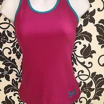 Under Armour Heat Geat Youth Small Tank Top Purple and Turquoise Photo