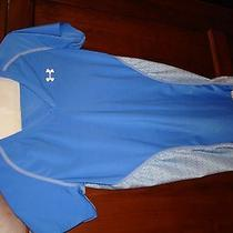 Under Armour Heatgear Blue v-Neck Stretchy Shirt Short-Sleeve L Nwot Photo