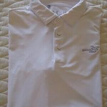 Under Armour Heatgear Cold Black Men's Polo/golf Shirt Large S/s White Euc Photo