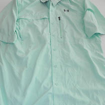 Under Armour Heatgear Flats Guide Ii Shortsleeve Fishing Shirt Sz L Aqua Green Photo