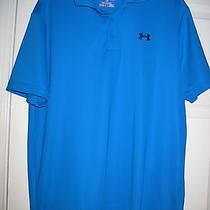 Under Armour Heatgear Men's Royale Blue Dri-Fit Polo Shirt Sz. L Nwot Photo