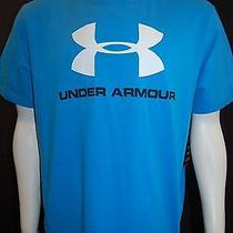 Under Armour Heatgear Mens Shirt Short Sleeve Shirt U-Neck Size Xxl Blue Photo