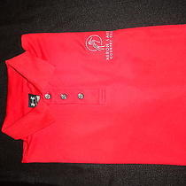 Under Armour Heron Lakes Country Club Red Golf Polo Shirt With Logo on Sleeve L Photo