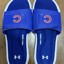 Under Armour Ignite v Slides Sandals Blue 3000044 Mlb Cubs Mens Size 11 Photo