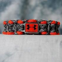 Under Armour Logo Bracelet Extra Wide Titanium & Orange  4 Bracelet Choices Photo