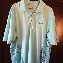 Under Armour Loose Heat Gear Whiskey Creek Golf Club Polo Shirt Large Lg Photo