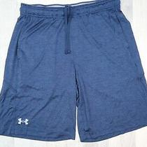 Under Armour Loose Shorts Athletic Gym Training Running Blue Men Sz Large Photo