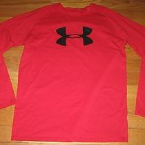Under Armour Ls Shirt Top Red Youth L Heat Gear Photo