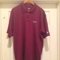 Under Armour Maroon Large Polo With Lost Key Golf Club Logo Photo